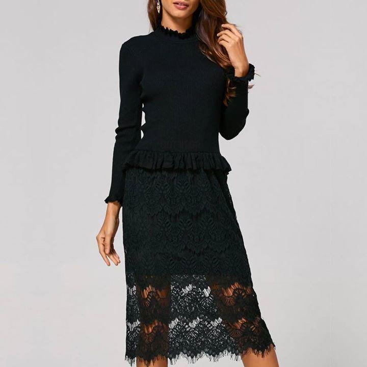 Midi φόρεμα με δαντέλα (-20% δίνοντας τον κωδικό 2017)!