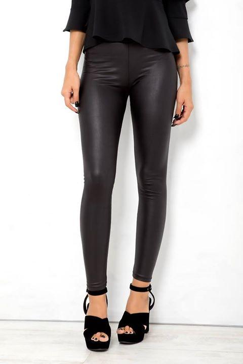 Leatherette παντελόνι κολάν!