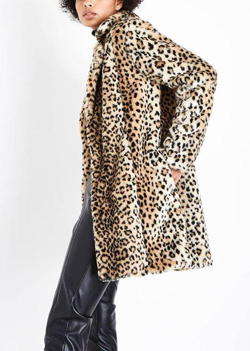 Leopard faux γούνα!