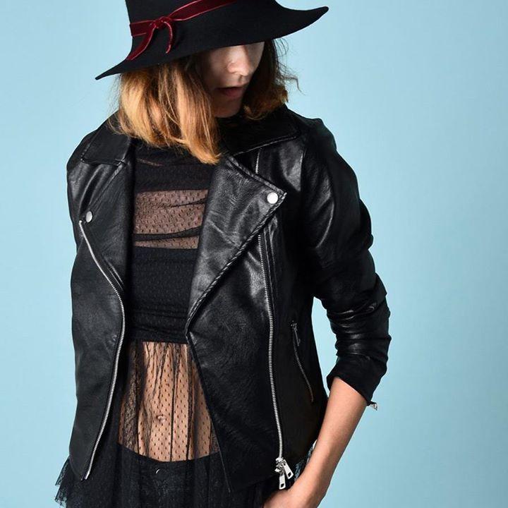 Leatherette biker jacket!