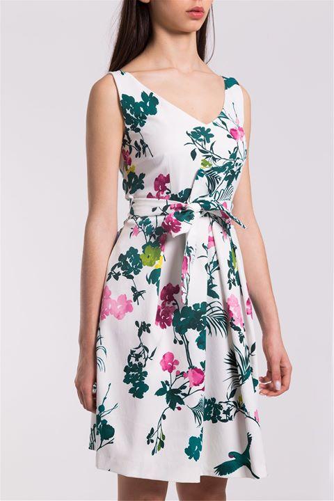 Midi floral φόρεμα!  005ff858783