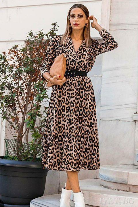 Κρουαζέ leopard φόρεμα!