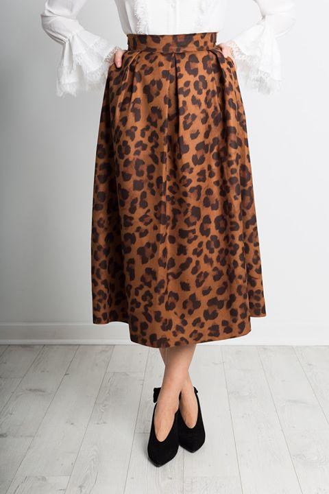 Midi leopard φούστα!