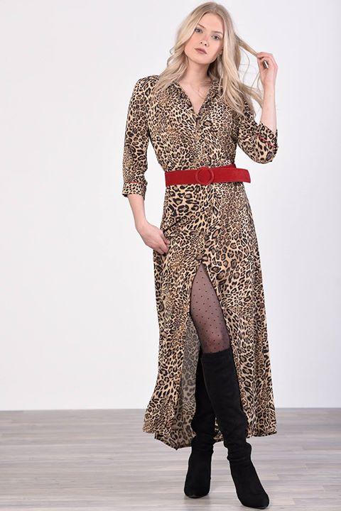 Maxi leopard φόρεμα!