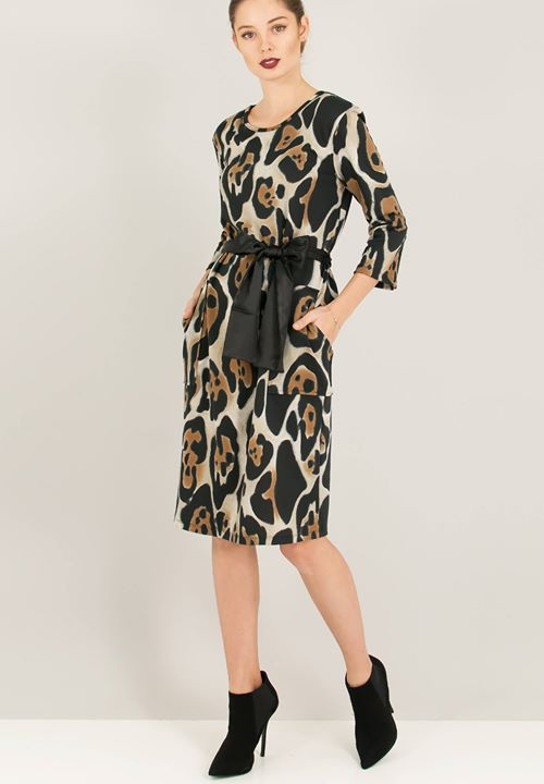 Leopard midi φόρεμα!