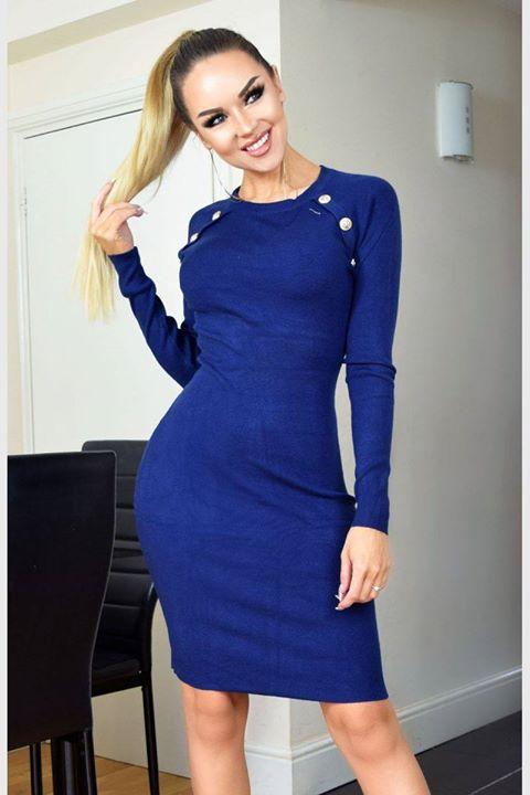 Rib μπλε φόρεμα!