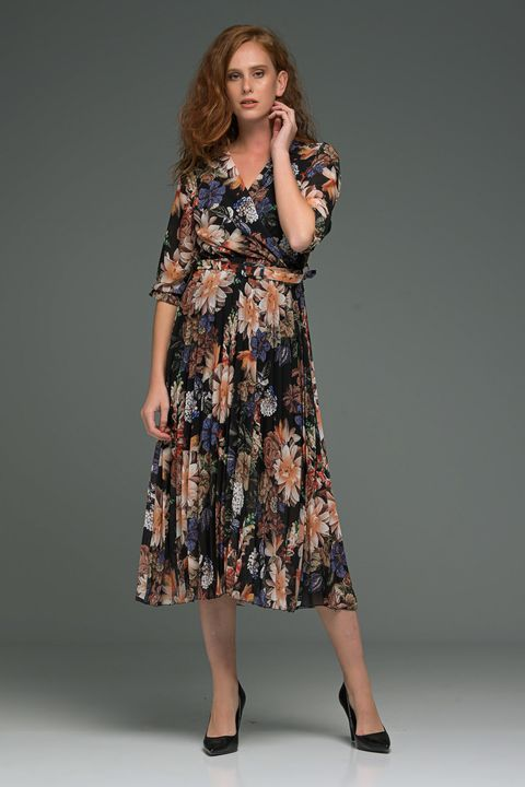 Floral midi φόρεμα!