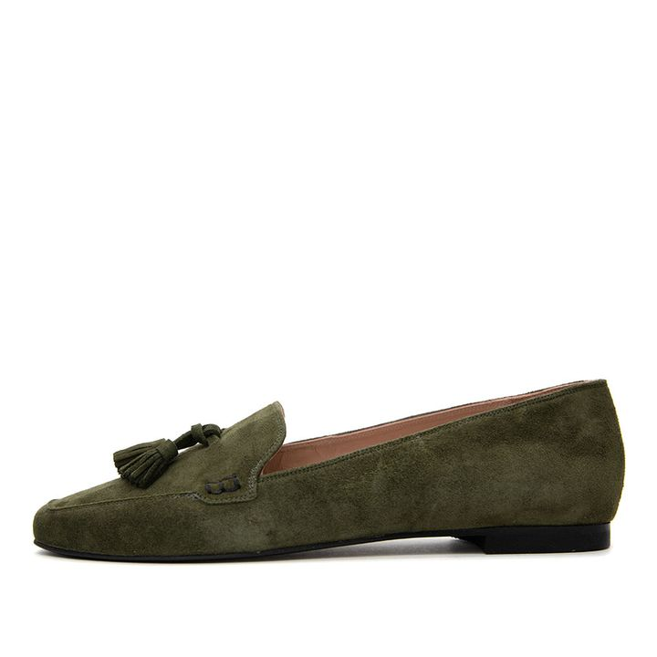 Suede loafers!