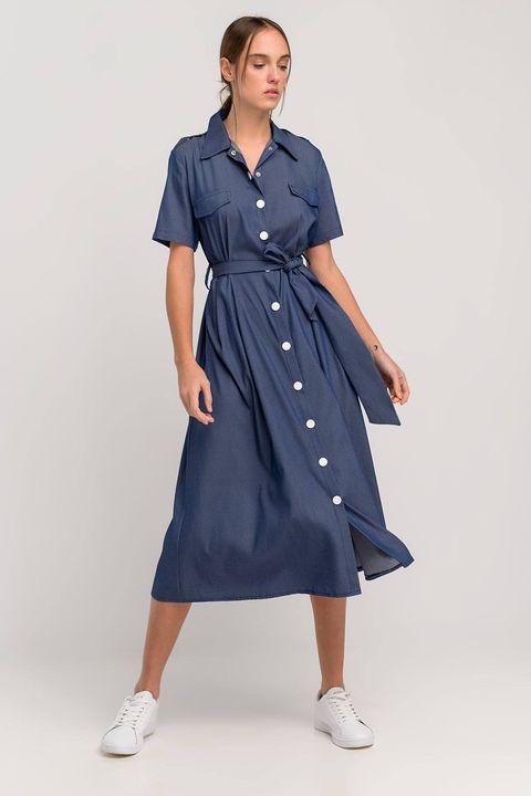 Φόρεμα τύπου denim!