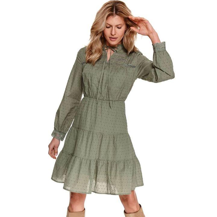 Midi φόρεμα με ανάγλυφα πουά!