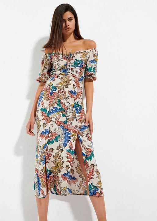 Off The Shoulders midi φόρεμα!