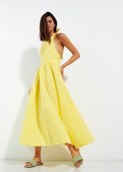 Open back midi φόρεμα!