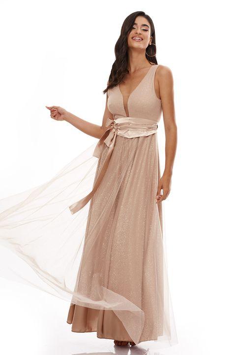 Beige maxi φόρεμα!