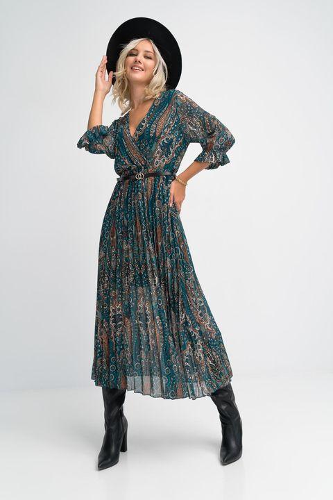 Πλισέ κρουαζέ φόρεμα!