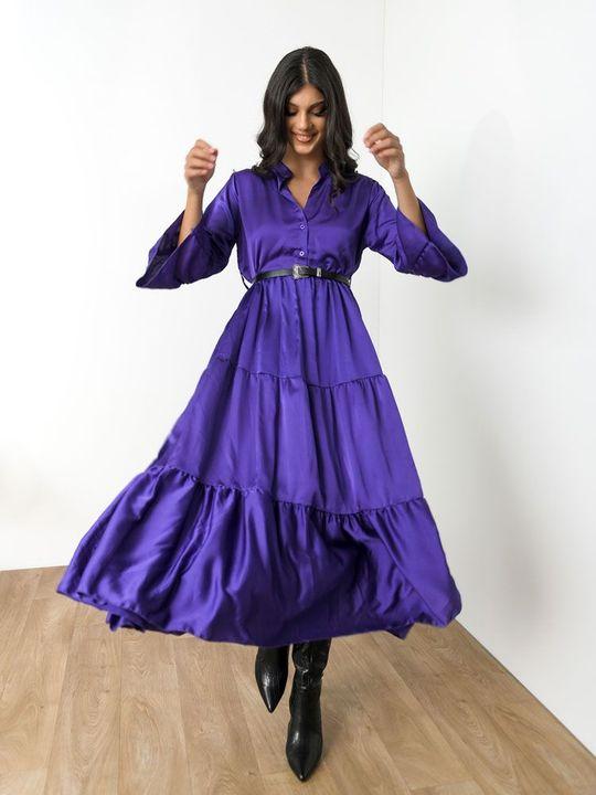 Midi φόρεμα με βολάν!