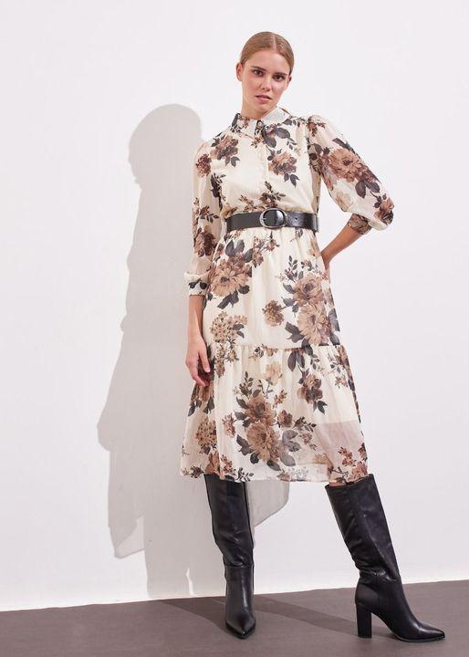 Midi φόρεμα με ζώνη!