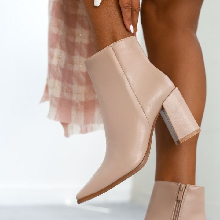 Beige ankle boots!