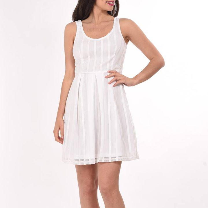 Λευκό mini φόρεμα!