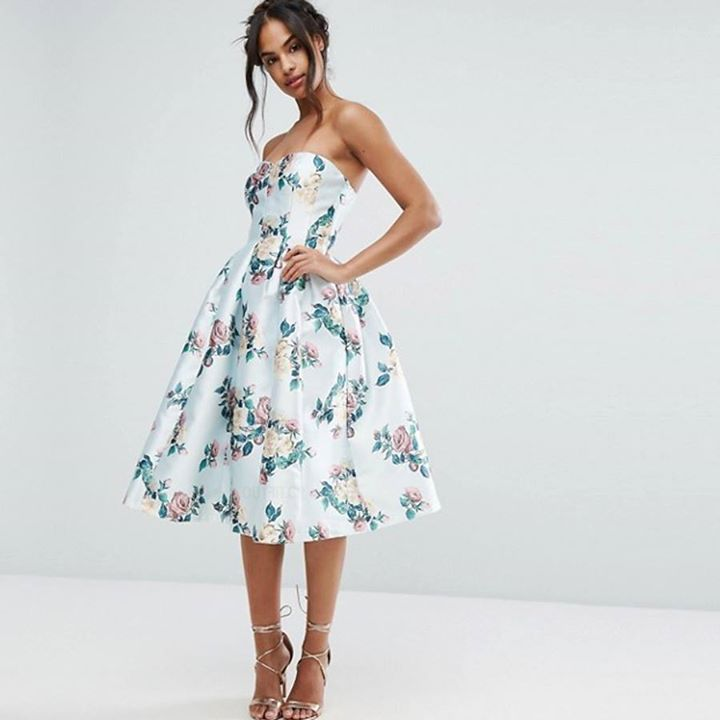 Strapless floral φόρεμα!