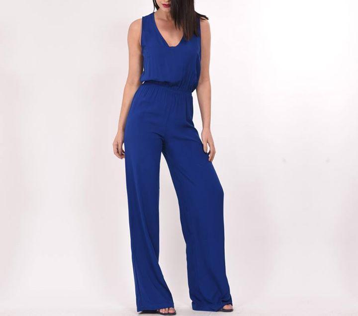 Royal blue ολόσωμη φόρμα!