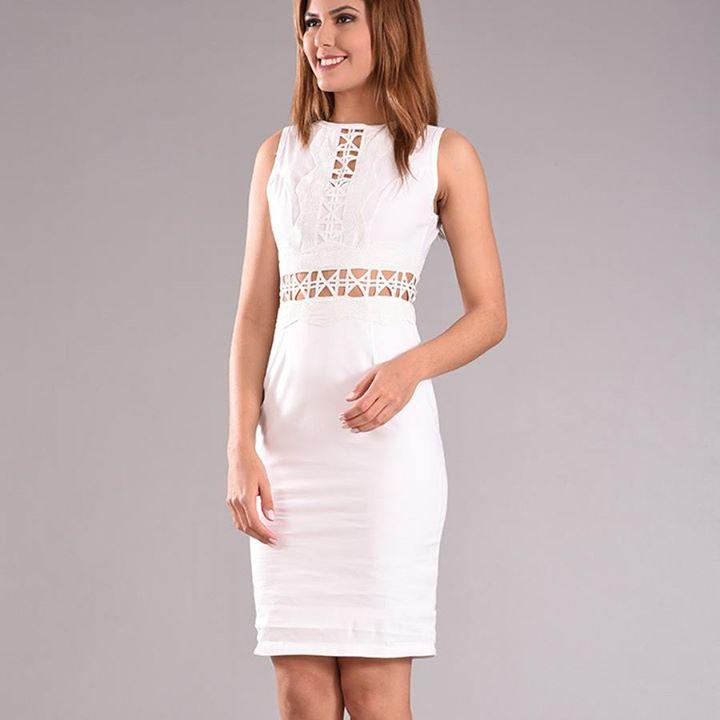 Pencil Λευκό φόρεμα!