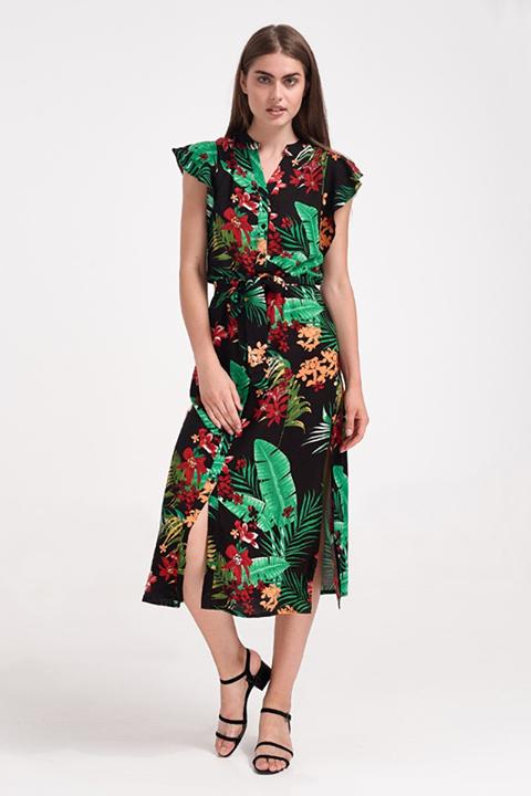 Tropical print φόρεμα!
