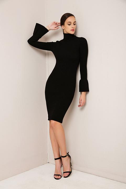 Midi πλεκτό φόρεμα!
